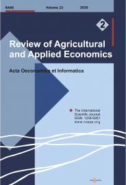 Review of Agricultural and Applied Economics, RAAE, VOL.23, No. 1/2020 - title image